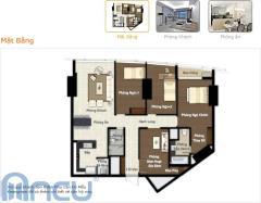Bán căn hộ 1403 (160 m) tòa a cccc keangnam giá 2200$/m2