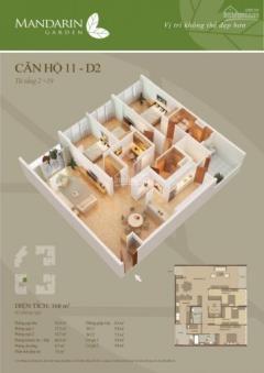 Chính chủ gửi bán căn 168m2 nhà thô tháp d mandarin garden