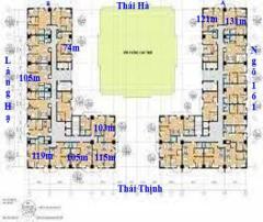 Bán chung cư 165 thái hà 3pn.lh 0984272900.