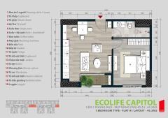 Nhượng 4 căn 1 ngủ số 7 &8- 45,74m2, 1,35 tỷ,ecolife capitol