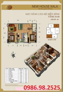 Chung cư new house xa la  hà đông giá chỉ 16 triệu/m2