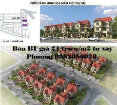 Bán liền kề phú lương giá  19 triệu/m2 tự xây