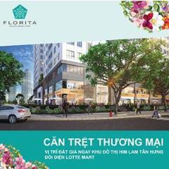 Căn hộ thương mại tầng trệt dự án florita 4,5 tỷ/125m2