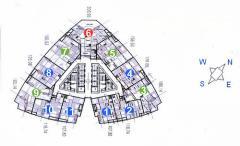 Cho thuê chung cư keangnam, 207m2, 4 ngủ, cơ bản, 1400usd