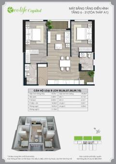 Tôi cho thuê chung cư ecolife: 75m2-tầng 20 (nội thất cdt)