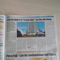 Chỉ 190  triệu sở hữu căn hộ phú mỹ hưng mặt tiền 60 m