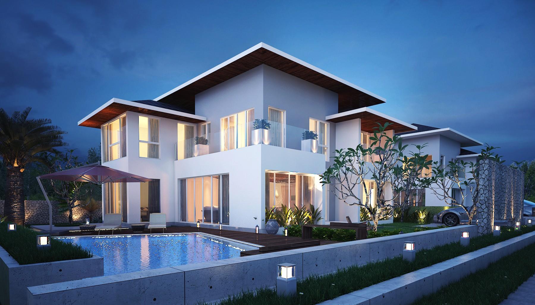Phối cảnh biệt thự Sonasea Villas & Resort