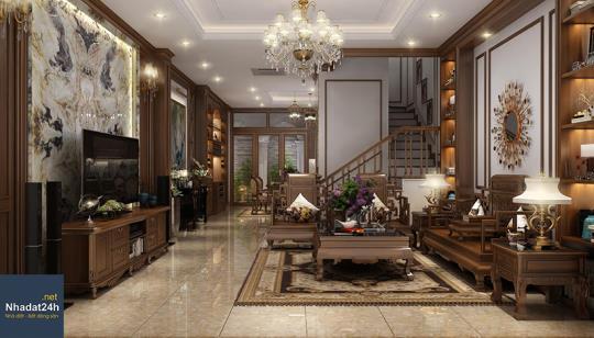 Chiêm ngưỡng 10 mẫu thiết kế nội thất phòng khách bằng gỗ