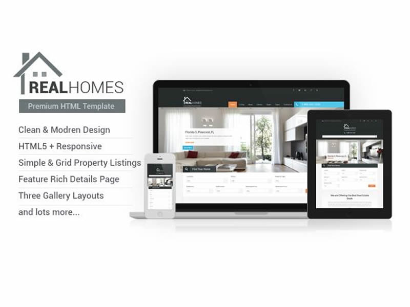 Ảnh giao diện Realhomes - Profesional Responsive