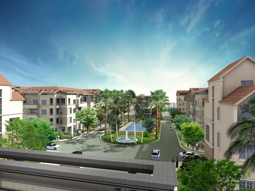 Phối cảnh nhà liền kề dự án khu đô thị Bắc An Khánh