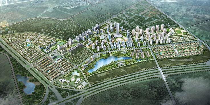Toàn cảnh dự án khu đô thị mới Bắc an Khánh