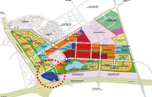 Vị trí trung tâm Marketing khu đô thị mới Bắc An Khánh