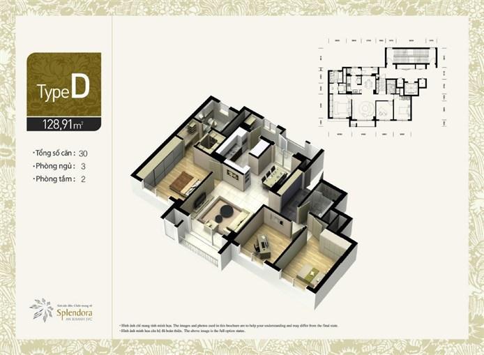 Mặt bằng chung cư căn hộ C khu đô thị mới Bắc An Khánh