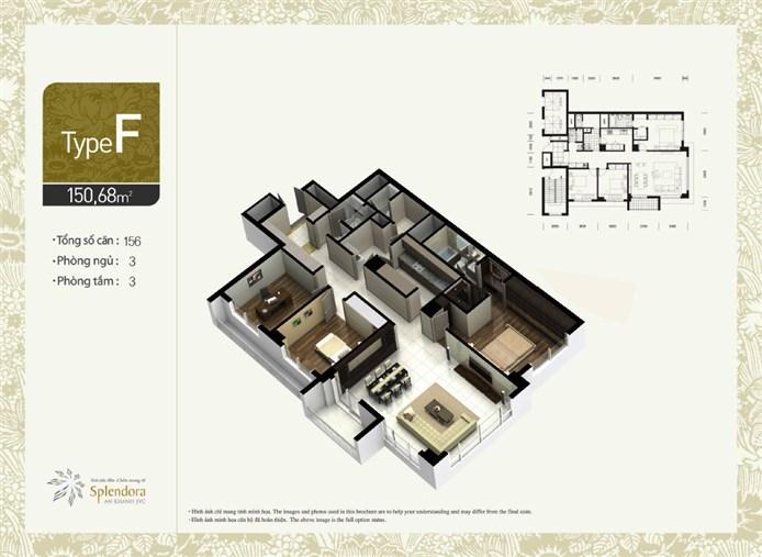 Mặt bằng chung cư căn hộ F khu đô thị mới Bắc An Khánh