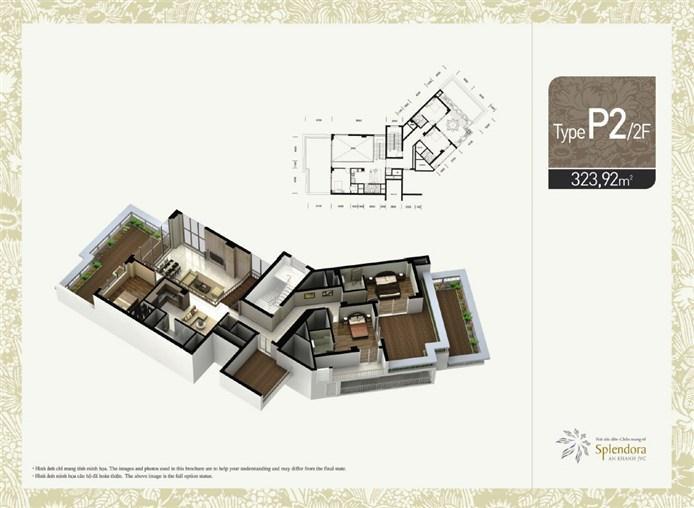 Mặt bằng chung cư căn hộ P2/2F khu đô thị mới Bắc An Khánh