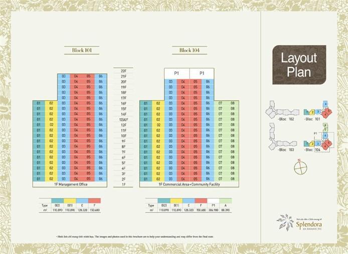 Mặt bằng chung cư Block 101 Block 104 khu đô thị mới Bắc An Khánh