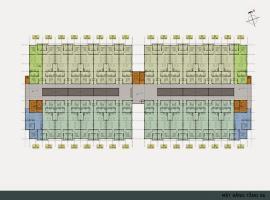 Mặt bằng tầng 6 Khu đô thị mới Thannh Hà