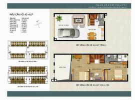 Mẫu căn hộ A2 A2 sao khu đô thị mới Thanh Hà