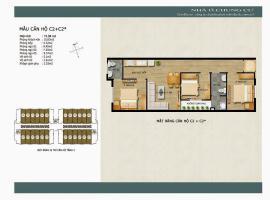 Mẫu căn hộ C2 C2 sao khu đô thị mới Thanh Hà