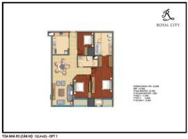 R3-11 tầng 5-Chung cư Royal City - Tầng: 5