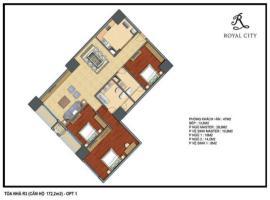 R3-25 tầng 5-Chung cư Royal City - Tầng: 5