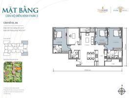 Bán tòa Park3 căn hộ số 06 Times City Park Hill - Tầng: 10