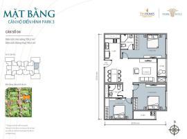Bán tòa Park3 căn hộ số 04 Times City Park Hill - Tầng: 10