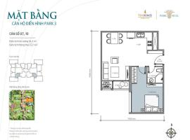 Bán tòa Park3 căn hộ số 10 Times City Park Hill - Tầng: 10