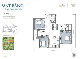 Bán tòa Park3 căn hộ số 08 Times City Park Hill - Tầng: 10