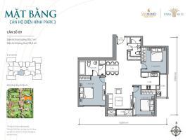 Bán tòa Park3 căn hộ số 09 Times City Park Hill - Tầng: 10