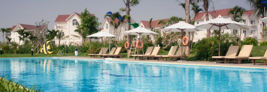 Bể bơi dự án Vinhomes Riverside