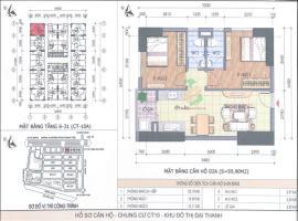 Bán căn hộ 02A CT10A tầng 12 Chung cư Đại Thanh - Tầng: 12