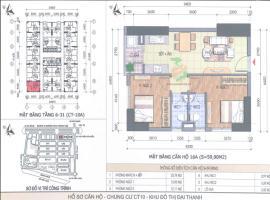 Bán căn hộ 16A CT10A tầng 7 Chung cư Đại Thanh - Tầng: 7