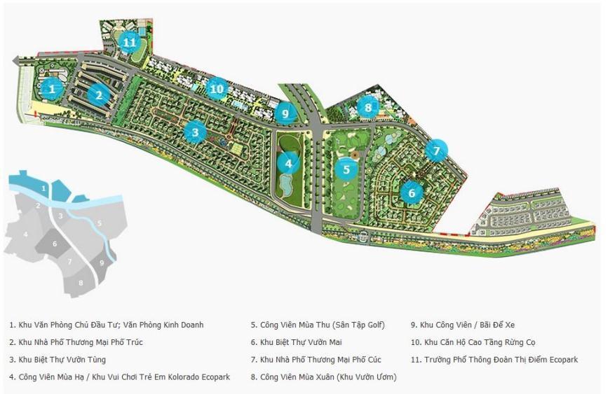 Toàn cảnh dự án khu đô thị Ecopark