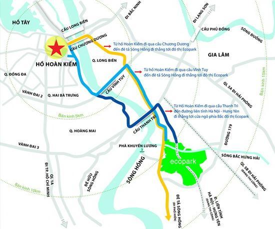 Vị trí dự án khu đô thị Ecopark