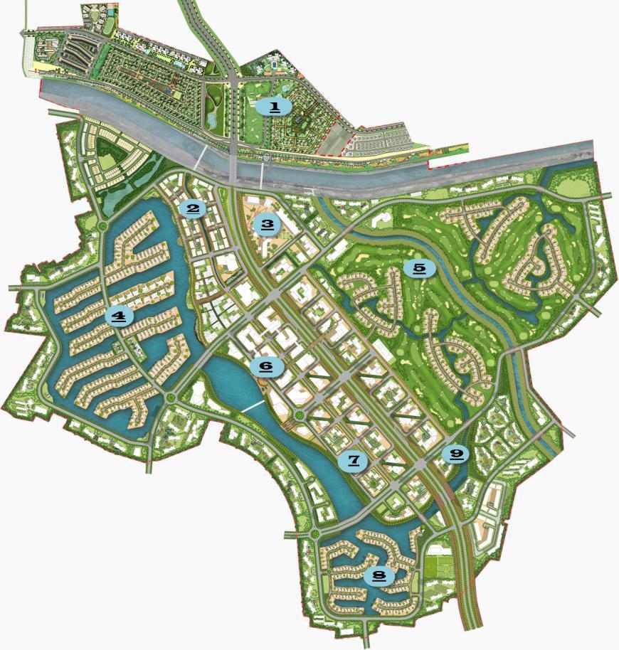 Mặt bằng tổng thể dự án khu đô thị Ecopark