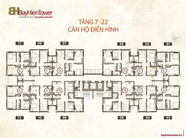 Mặt bằng tầng điển hình dự án căn hộ Bảy Hiền towe