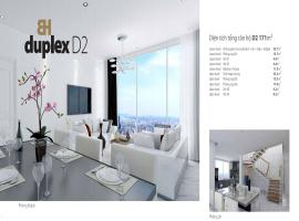Căn hộ penthouses-duplex D2 Bảy hiền tower