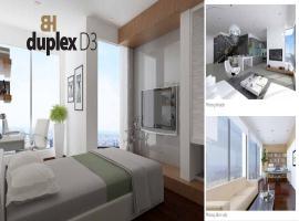 phối cảnh căn hộ penthouses-duplex D3 Bảy hiền tow