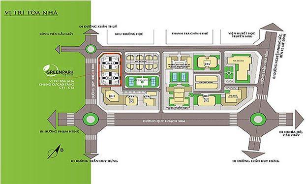 Phối cảnh tổng thể dự án Green Park Tower