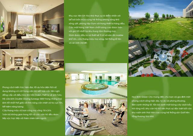Giới thiệu tiện ích Hòa Bình Green City