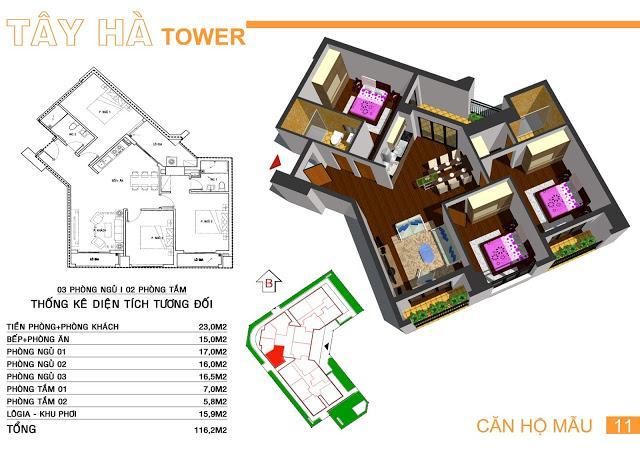 11 tầng 11-Tây Hà Tower