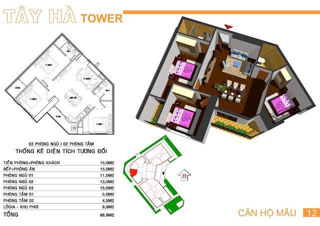 12 tầng 11-Tây Hà Tower