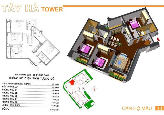 14 tầng 11-Tây Hà Tower