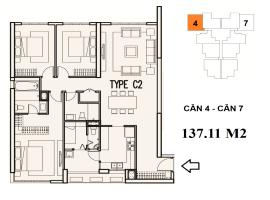 C2-4 Chung cư Mulberry Lane - Tầng: 10