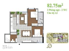 can ho A2 (82.75m2)