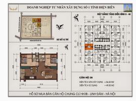 Mặt bằng chi tiết căn hộ số 28 diện tích 56.52m2