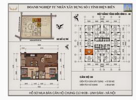 Mặt bằng chi tiết căn hộ số 30 diện tích 57.83m2