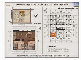 Mặt bằng chi tiết căn hộ số 32 diện tích 70.36m2