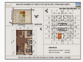 Mặt bằng chi tiết căn hộ số 34 diện tích 63.01m2